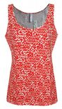 Wholesale Womens B.C Vest Tank Tops Animal Print Orange Size 6 to 14